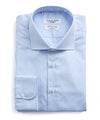 Emanuele Maffeis + Todd Snyder Light Blue Stripe Wrinkle Free Dress Shirt