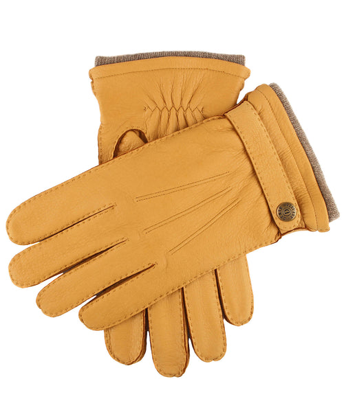 Dents Gloucester Cashmere Lined Deerskin Gloves in Tan