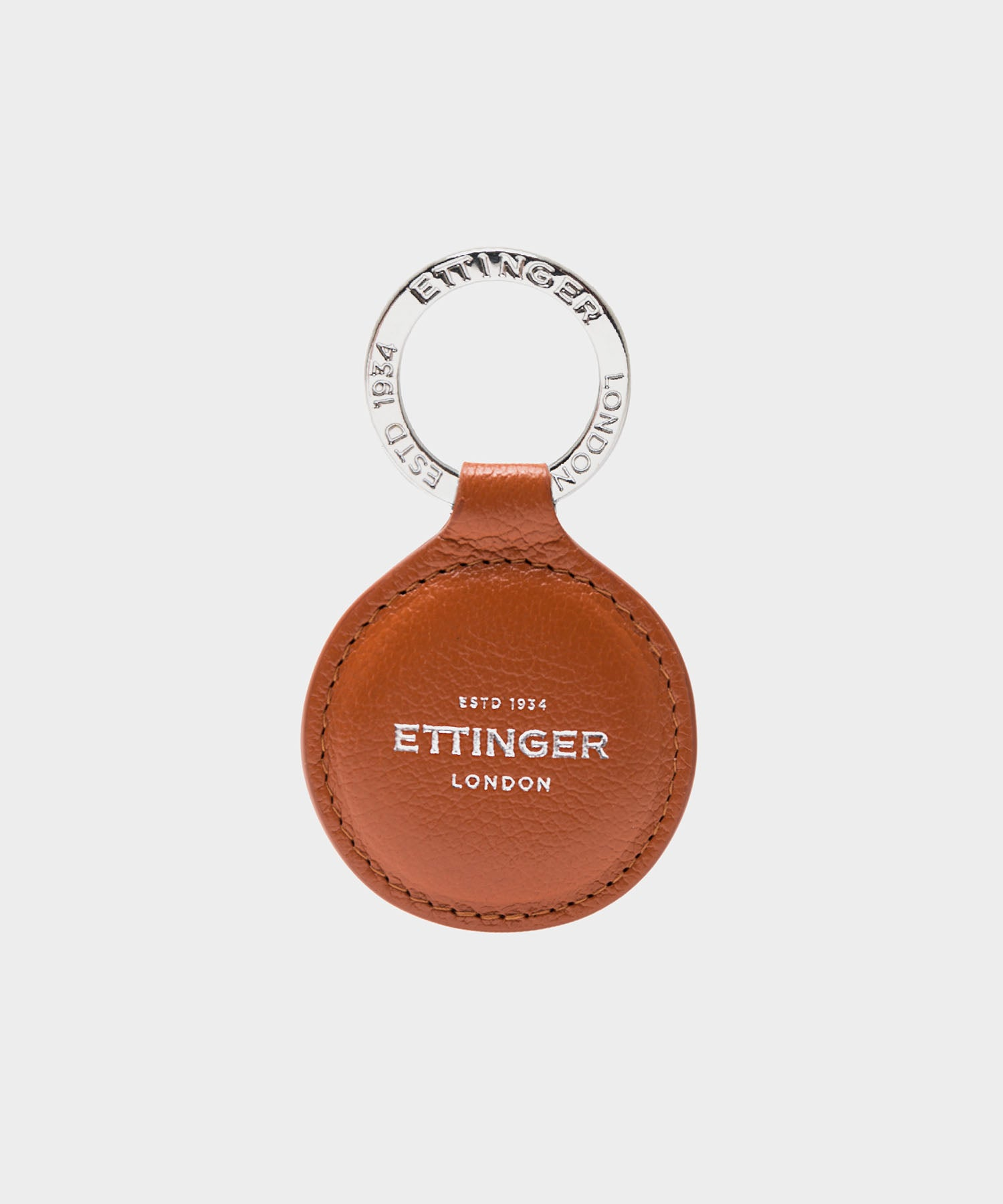 Ettinger Capra Round Key Fob in Tan