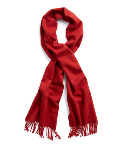Joshua Ellis Solid Cashmere Scarf in Red
