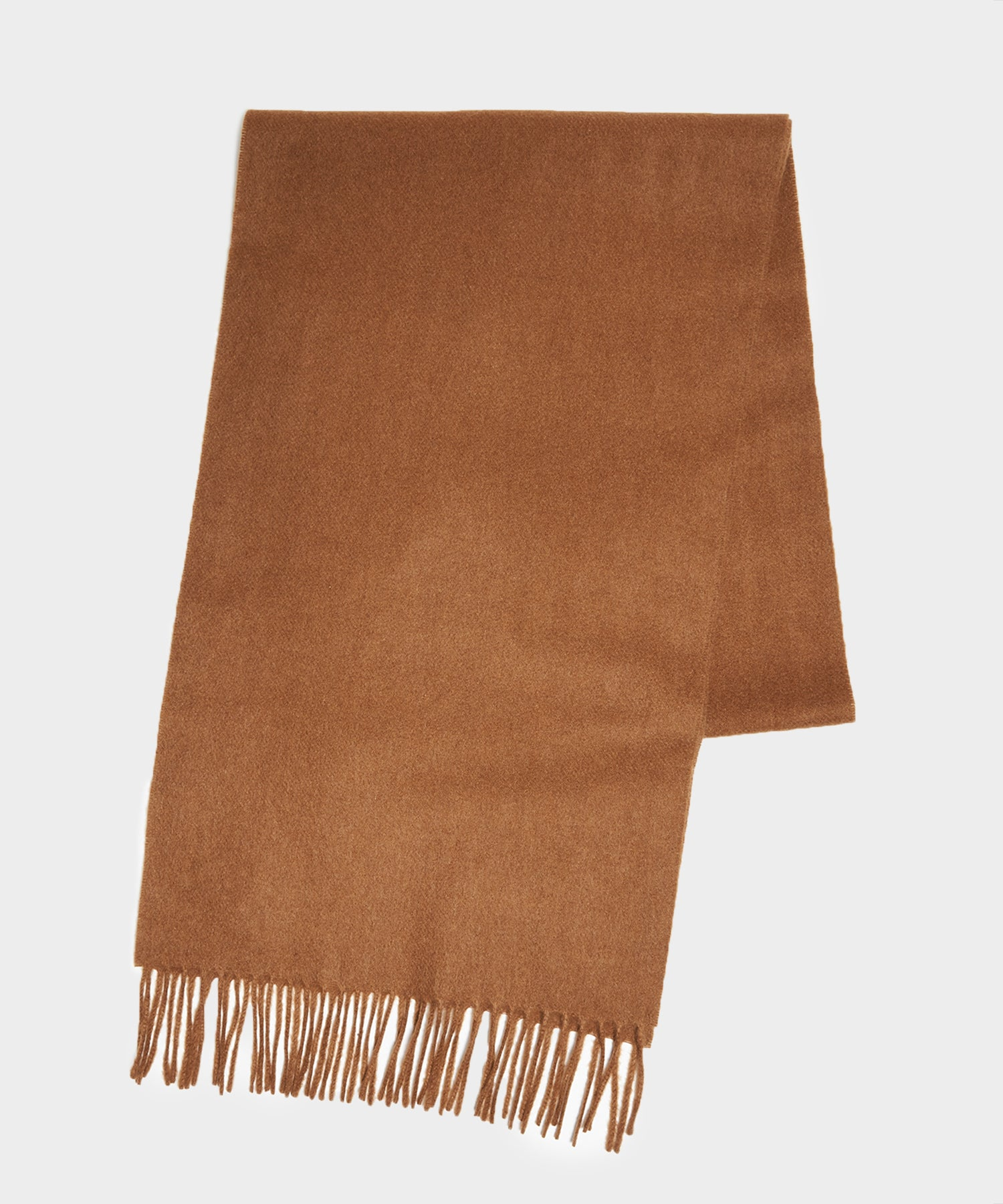 Joshua Ellis Solid Cashmere Scarf in Camel