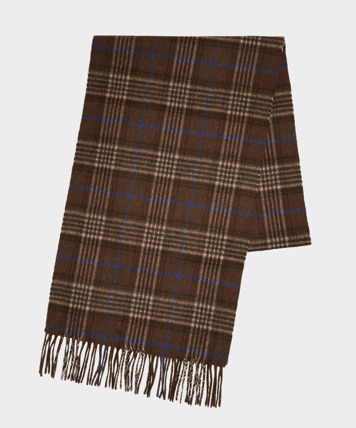 Joshua Ellis Brown Cashmere Check Scarf