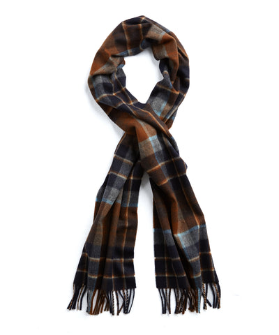 Joshua Ellis Brown Check Cashmere Scarf