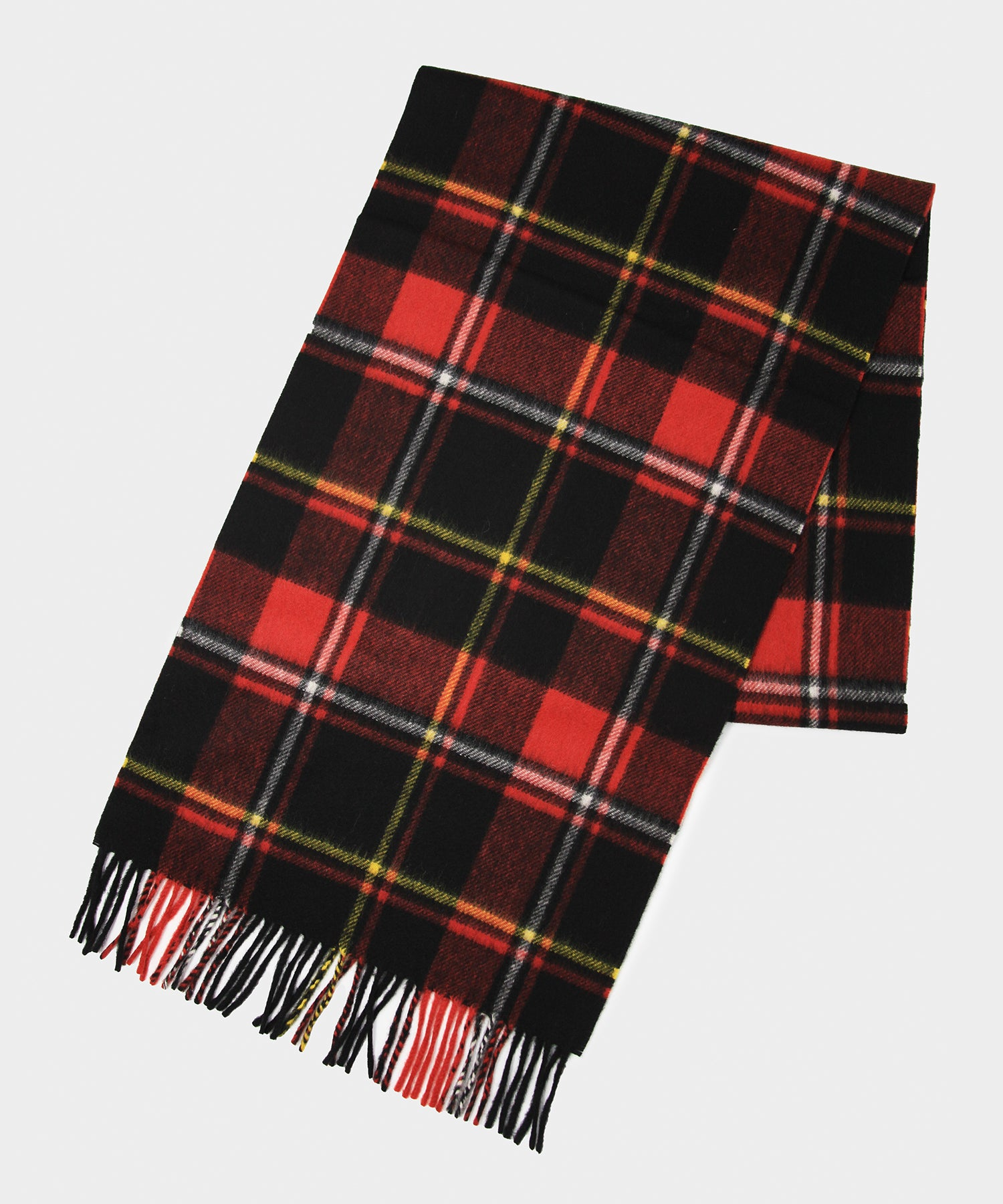 Joshua Ellis Red Plaid Scarf