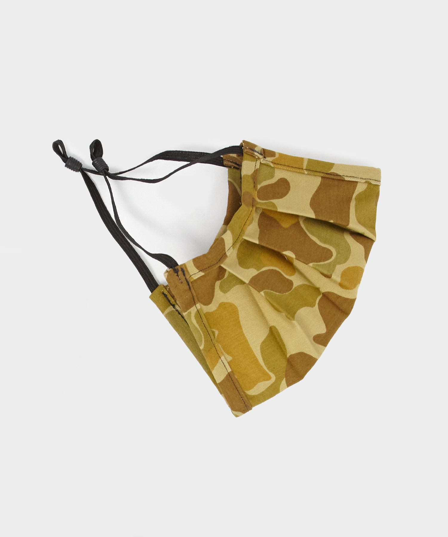 Japanese Cotton Pleated Face Mask in Duck Camo