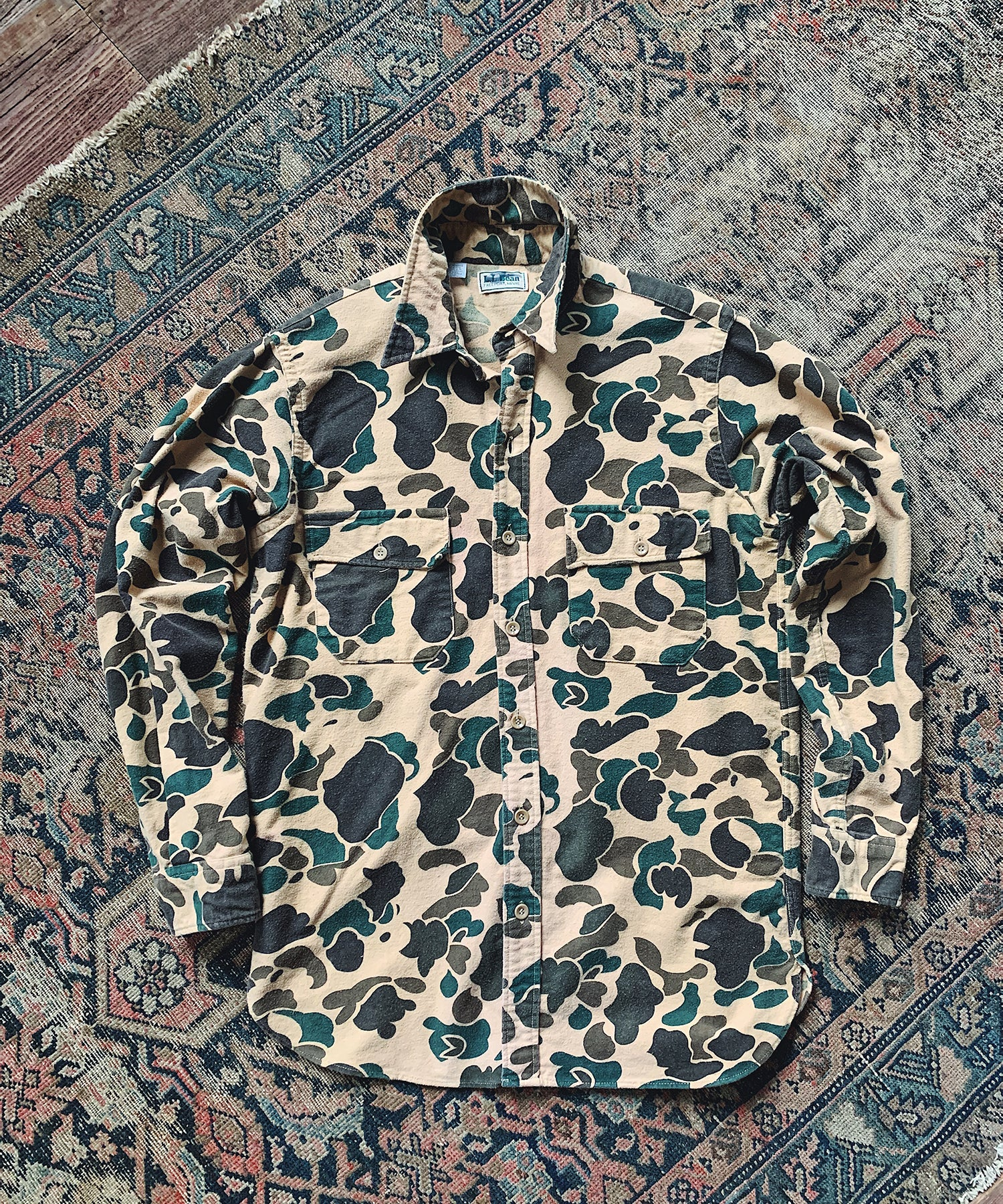 Item #16 - Todd Snyder x Wooden Sleepers 1980's Chamois Shirt in Duck Camo - SOLD OUT