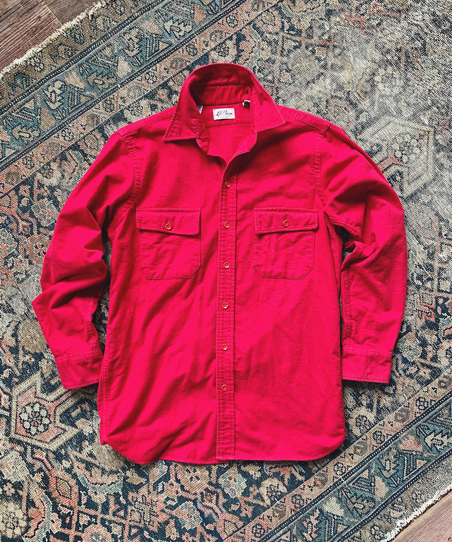 Item #20 - Todd Snyder x Wooden Sleepers 1970's Chamois Shirt in Red - SOLD OUT