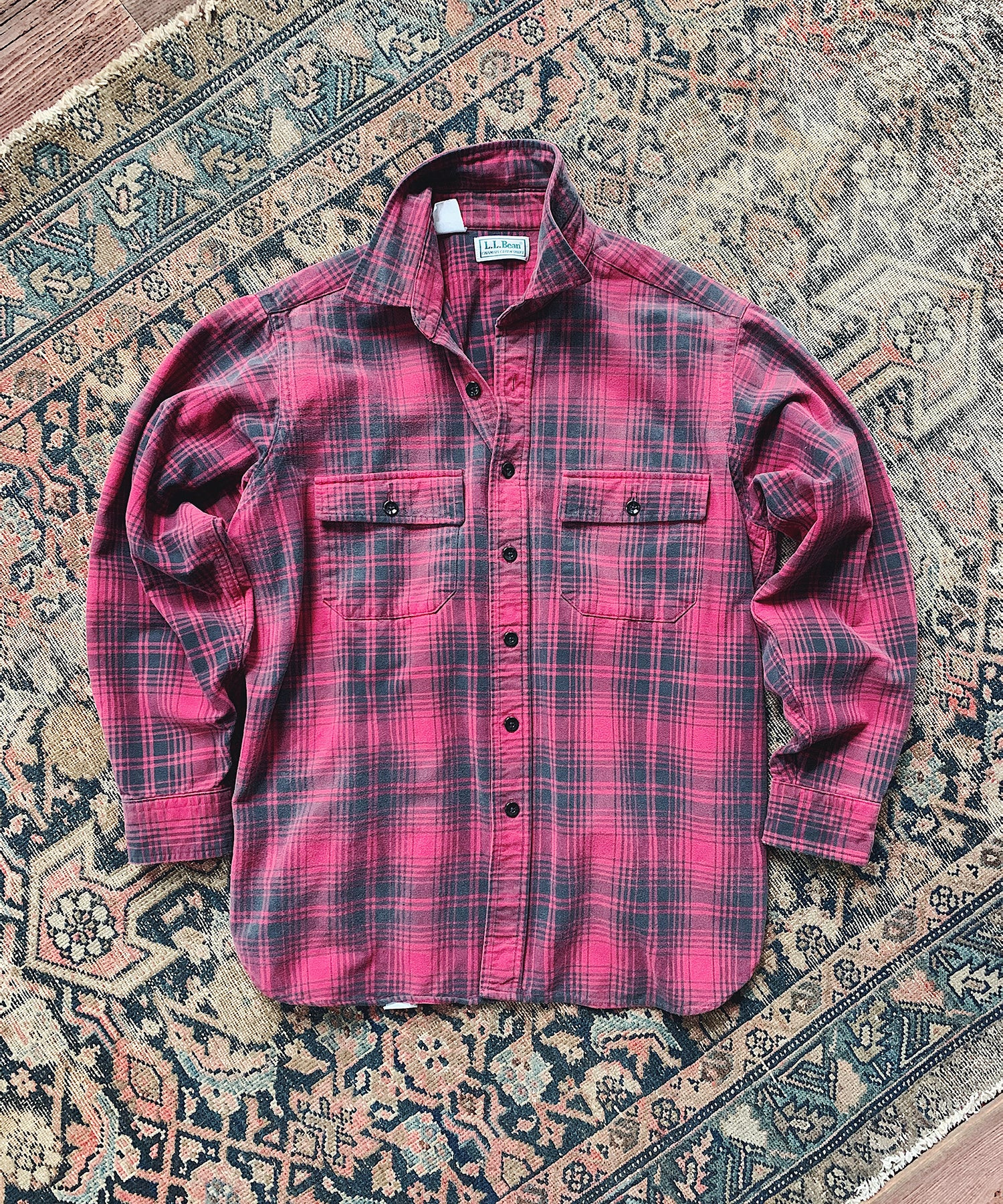 Item #6 -  Todd Snyder x Wooden Sleepers 1980's Chamois Shirt in Red/Black Plaid - SOLD OUT
