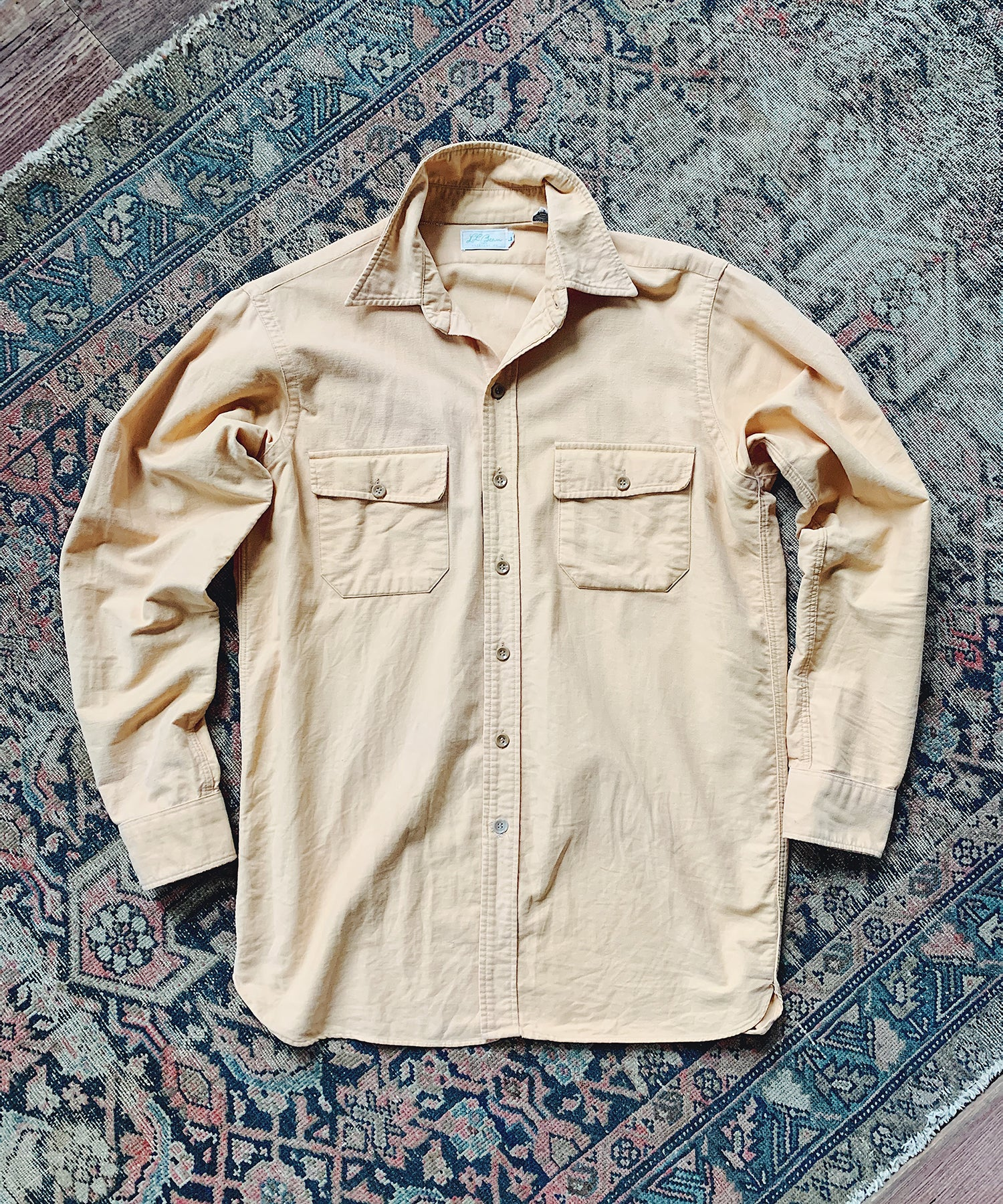 Item #1 - Todd Snyder x Wooden Sleepers 1960's Chamois Shirt in Yellow - SOLD OUT