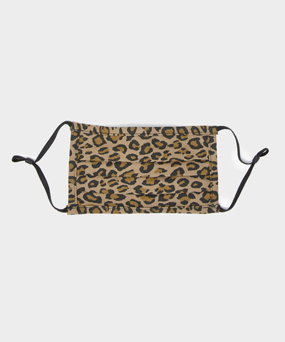 Japanese Cotton Pleated Face Mask in Leopard Print