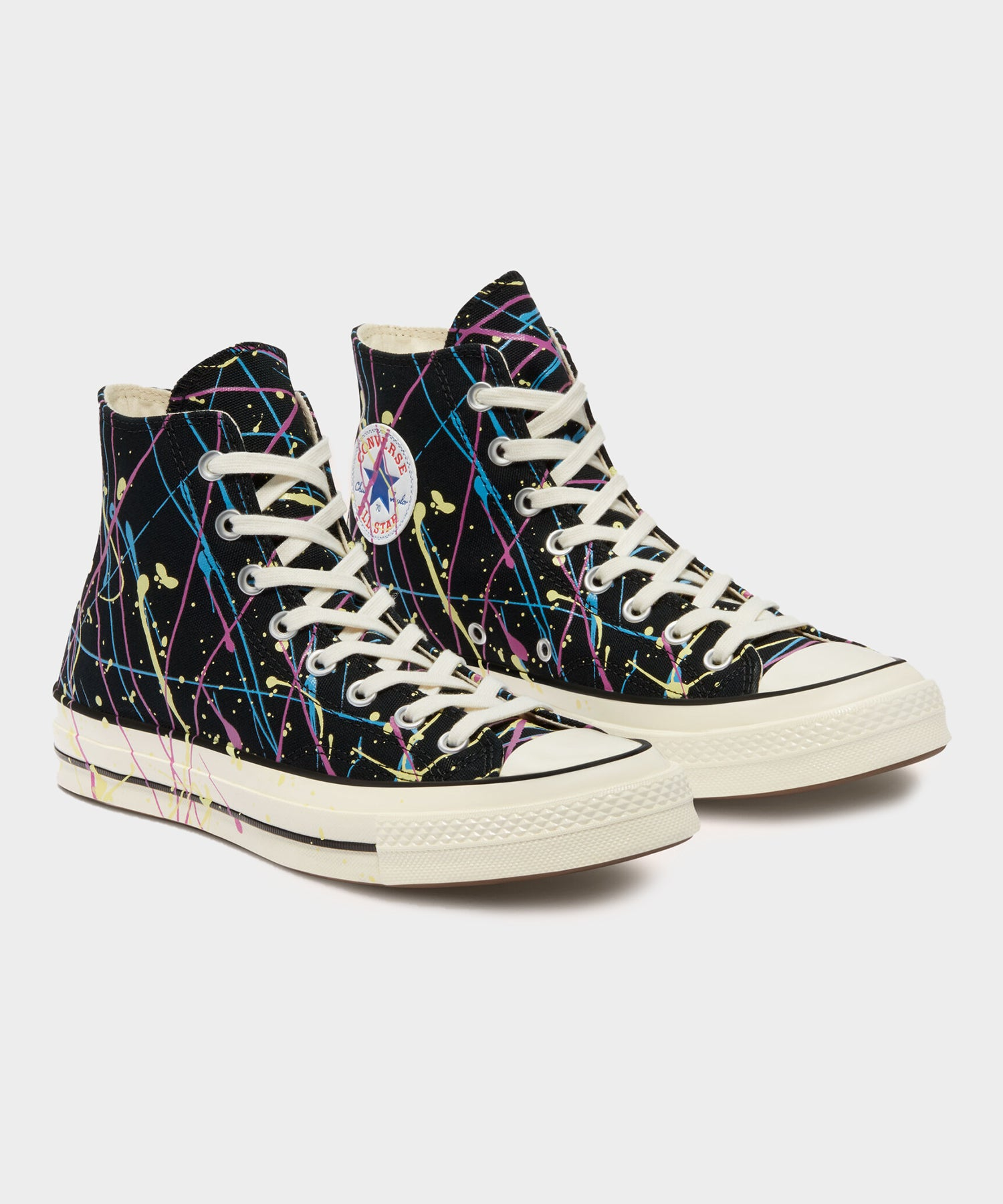 Converse Chuck 70 Archive Paint Splatter in Black - Todd Snyder