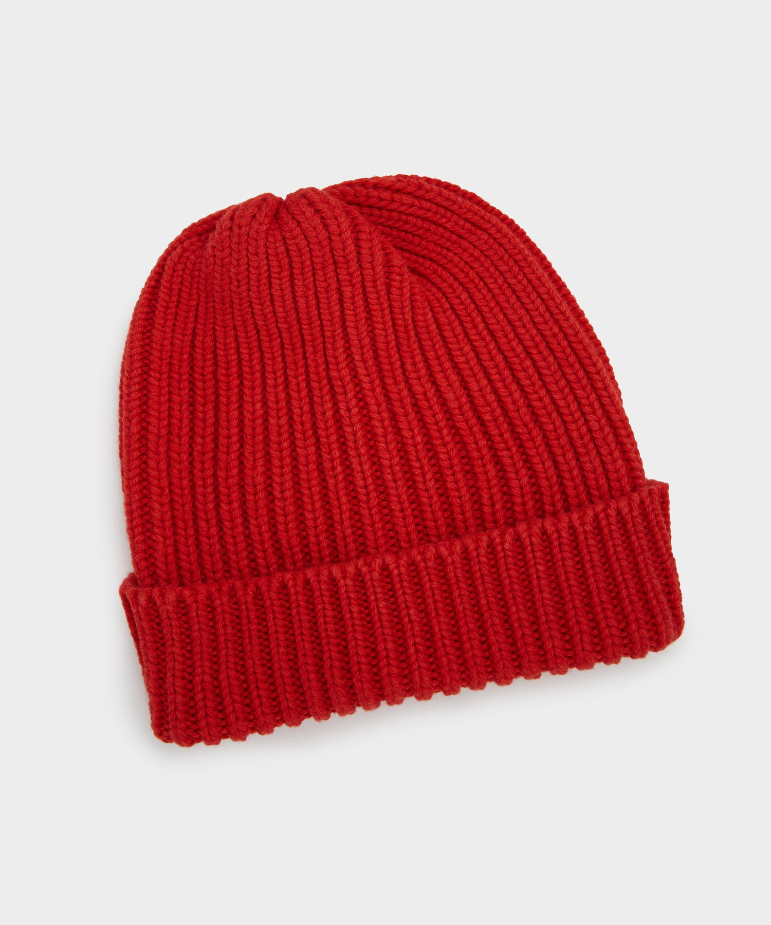 Corgi Cotton Cashmere Beanie in Red