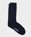 Corgi Ribbed Pure Cashmere Socks in Cosmos Navy
