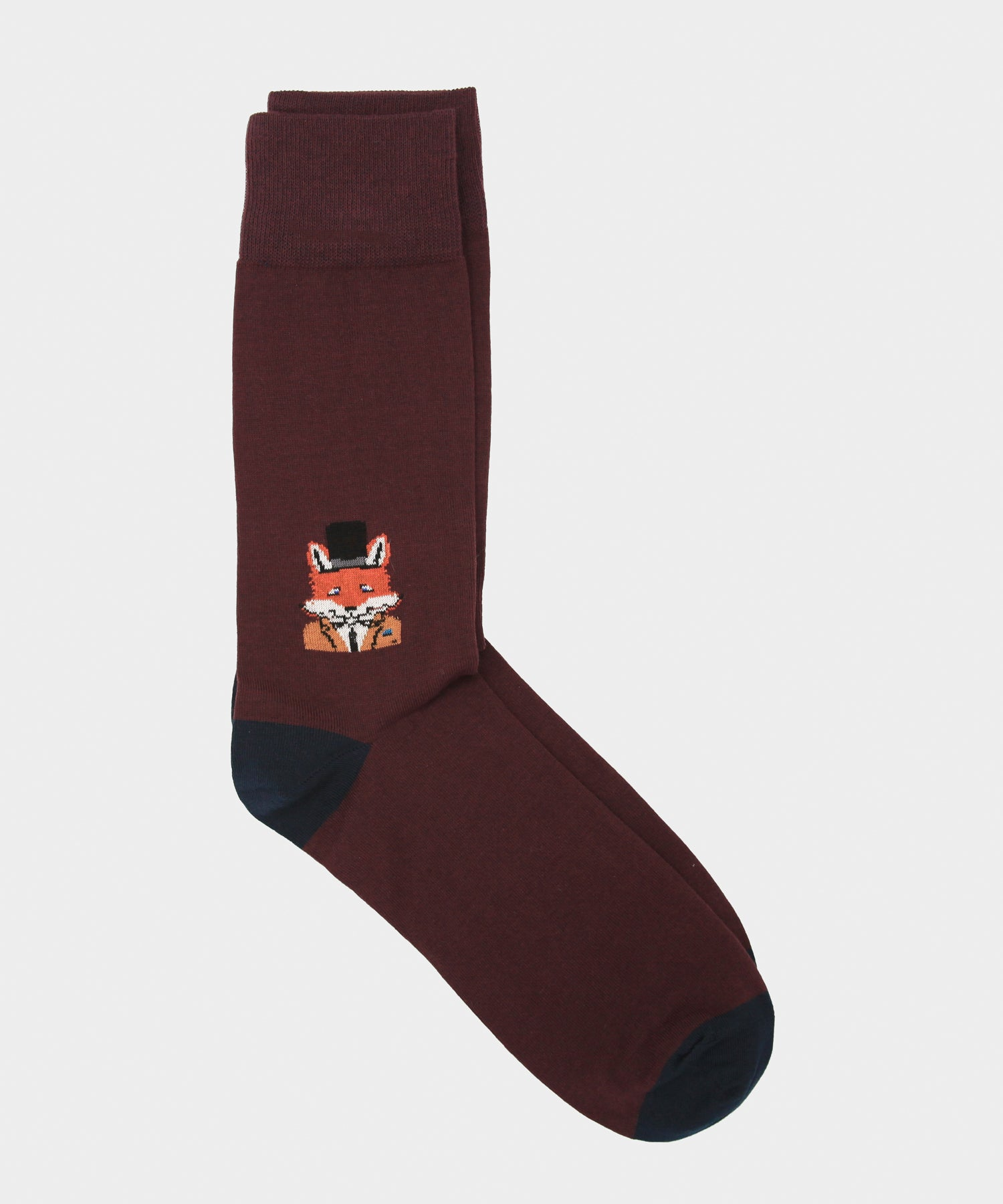 Corgi Fox in a Hat Socks in Port