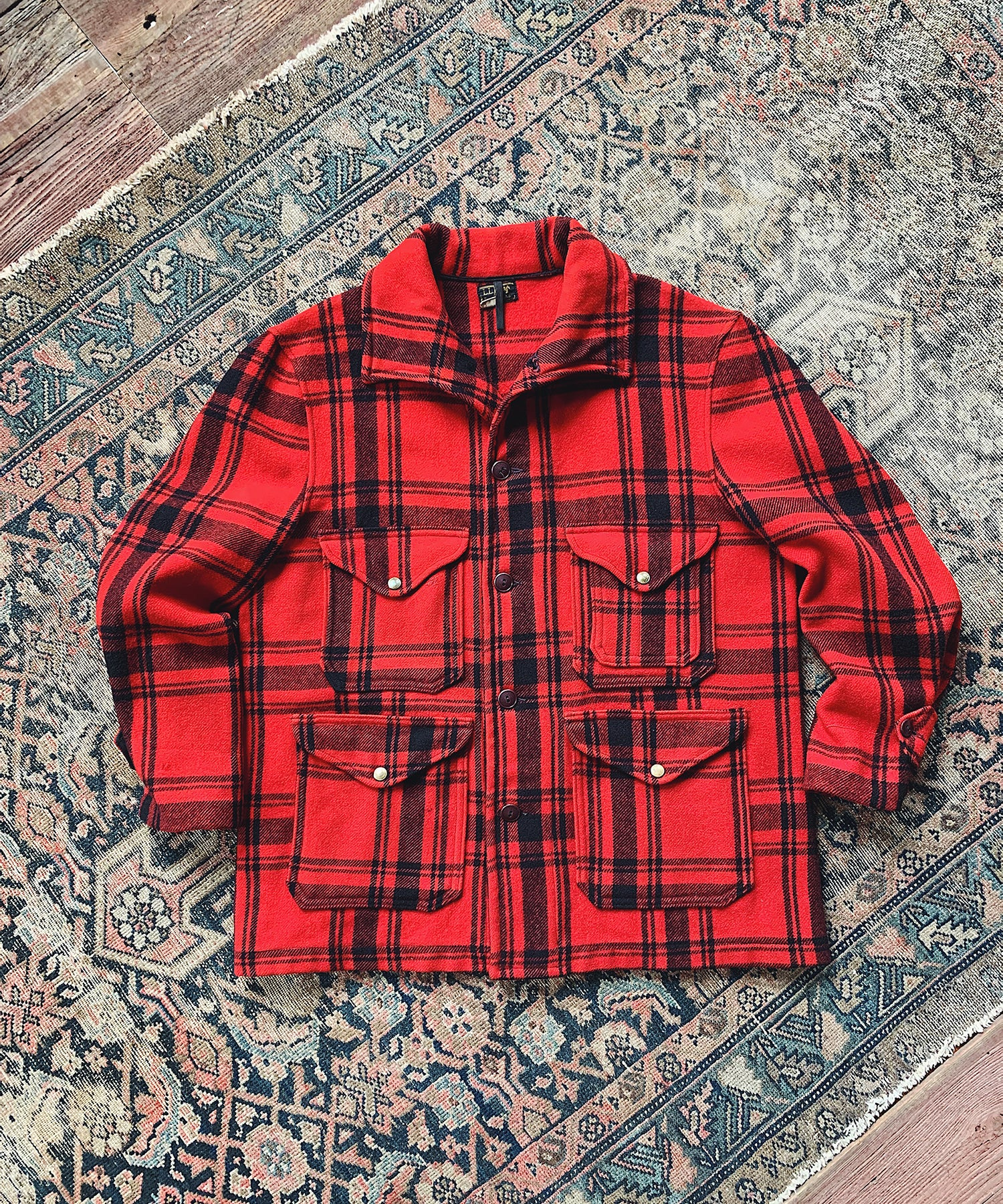 Item #14 - Todd Snyder x Wooden Sleepers 1920's Mackinaw Cruiser Jacket in Red Plaid