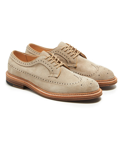 Exclusive Suede Alden Longwing Blucher in Milkshake