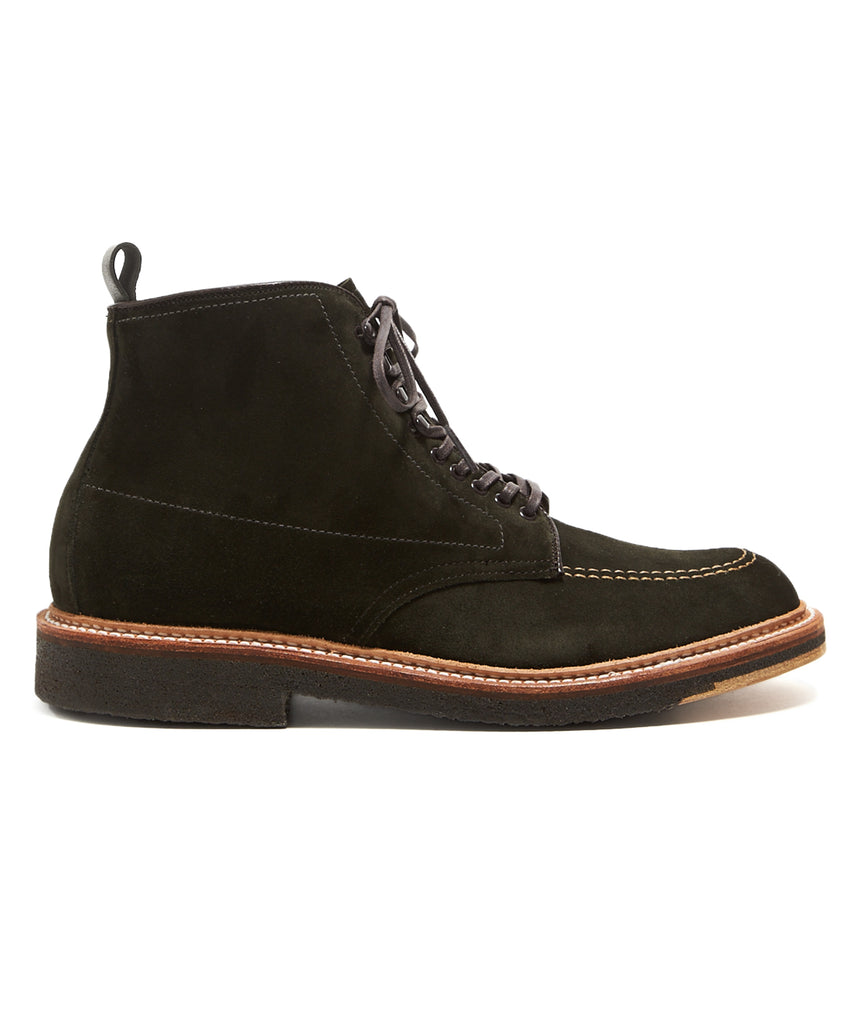 ALDEN SUEDE INDY BOOT IN DARK GREEN SUEDE EXCLUSIVE