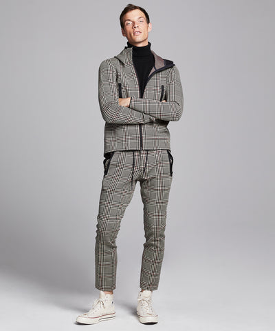 Todd Snyder + Descente Synchknit Long Pants Cloud in Glen Plaid
