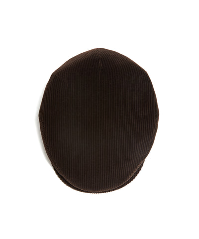Lock and Co Corduroy Drifter Cap in Brown