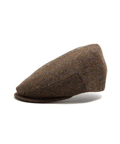 Lock and Co Brown Donegal Newsboy Drifter Cap