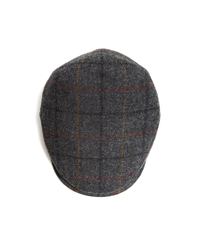 Lock and Co Grey Windowpane Newsboy Drifter Cap