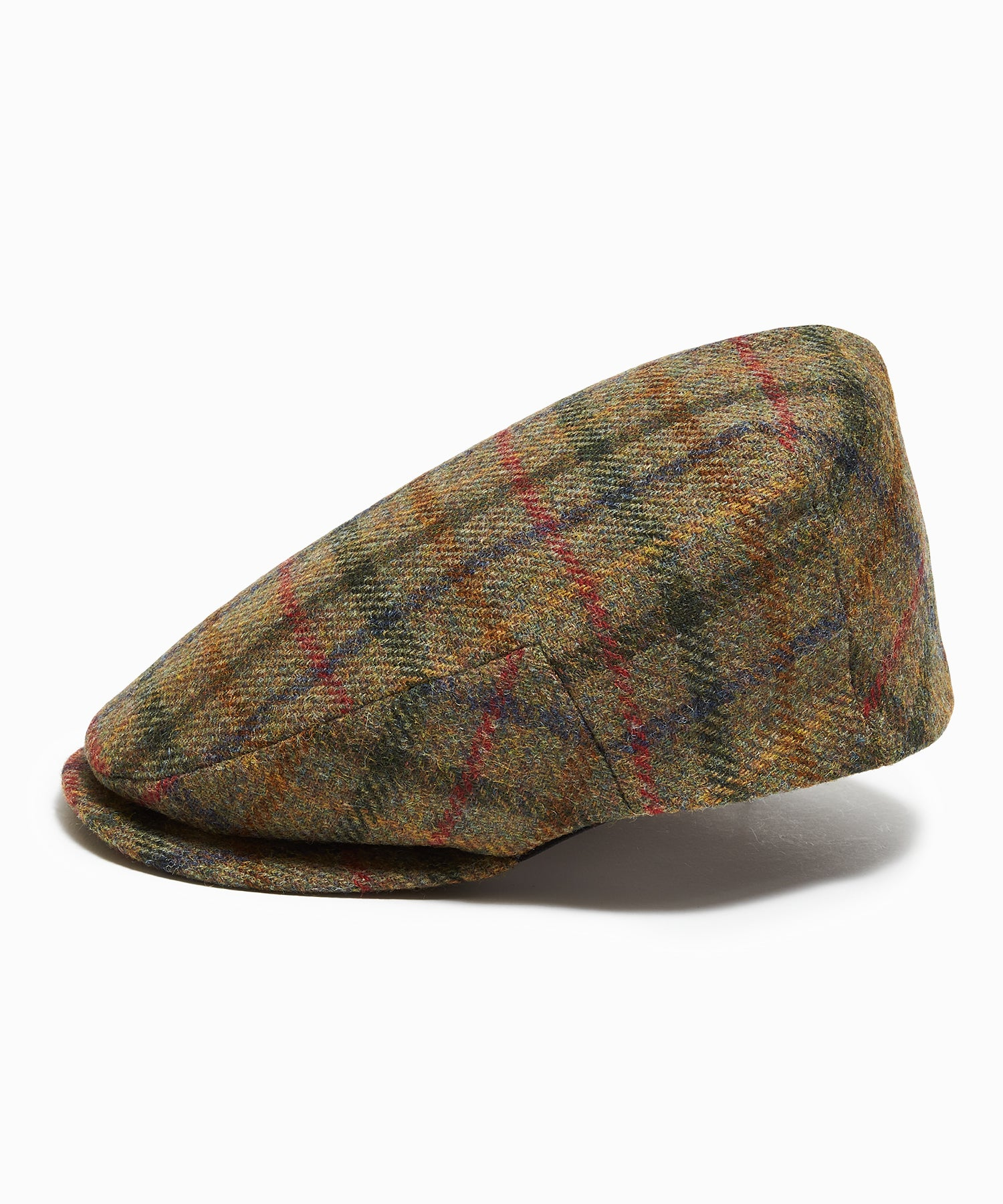 Lock & Co Flat Cap Moon Wool Brown Multi Pane
