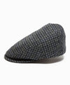 Lock & Co Drifter Flat Cap Moon Wool Houndstooth