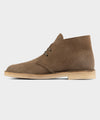 Clarks Desert Boot In Light Olive Suede