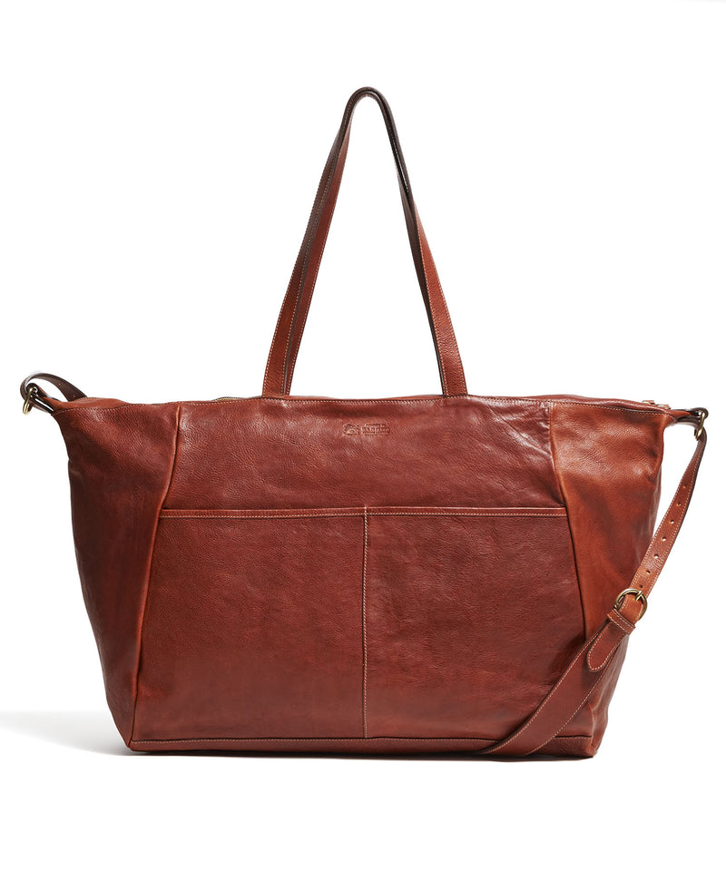 Il Bisonte Cowhide Travel Bag in Brown