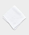 Mungai Orlo A Giorno Linen Pocket Square in White