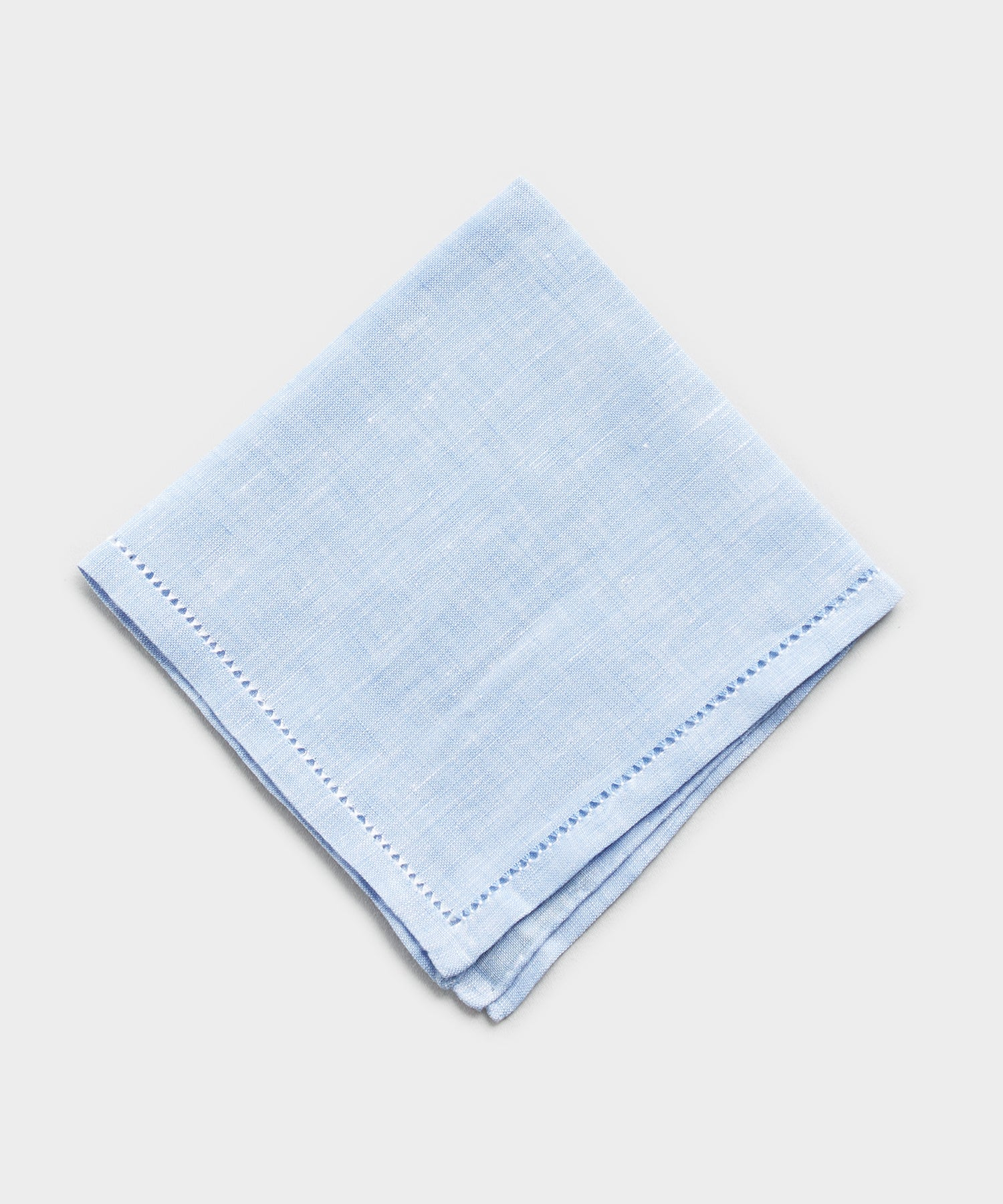 Mungai Orlo A Giorno Linen Pocket Square in Blue