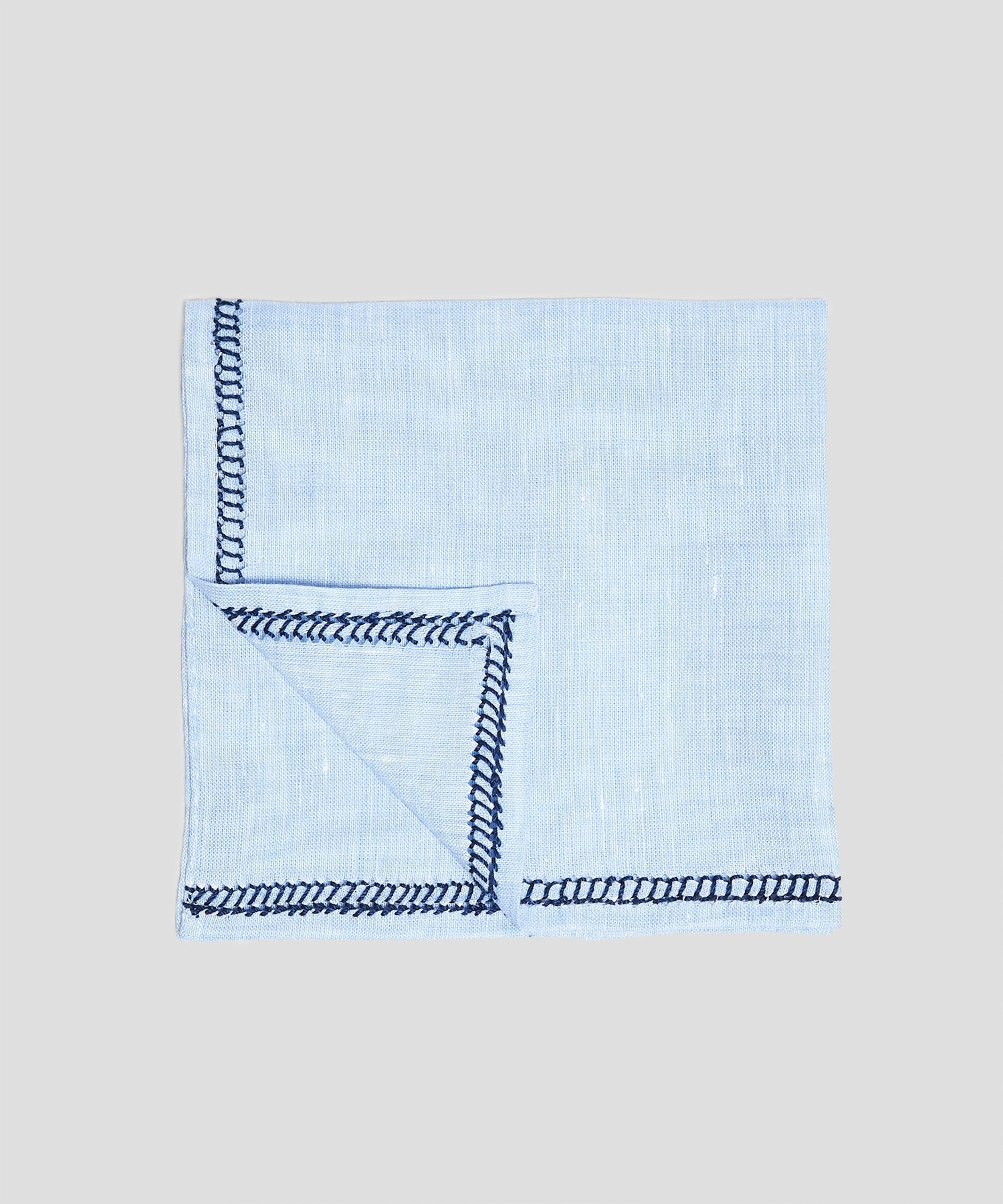 Mungai Punto Quadro Pocket Square in Blue