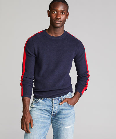 Merino Ski Sweater in Navy