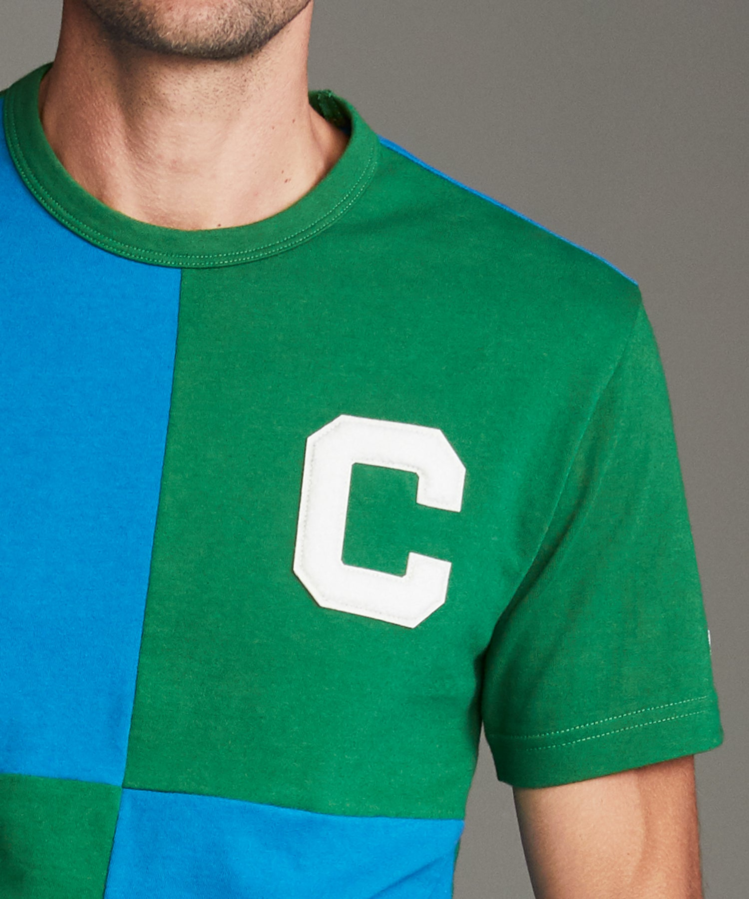 Rowing Tee in Cabana Green and Blue