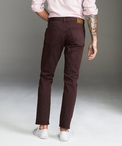 Slim Fit 5-Pocket Garment-Dyed Stretch Twill in Fudge