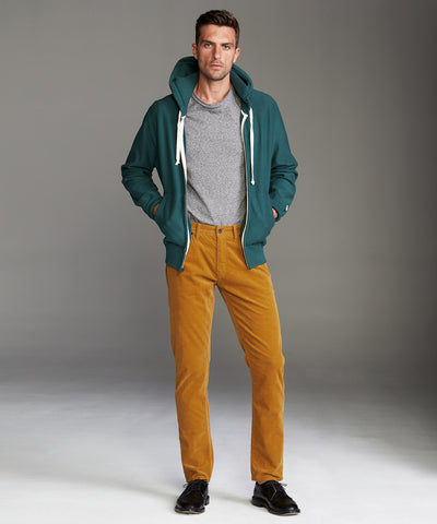 Slim Fit 5-Pocket Italian Cord in Yellow