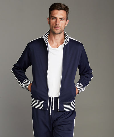Japanese Tipped Track Jacket in Navy