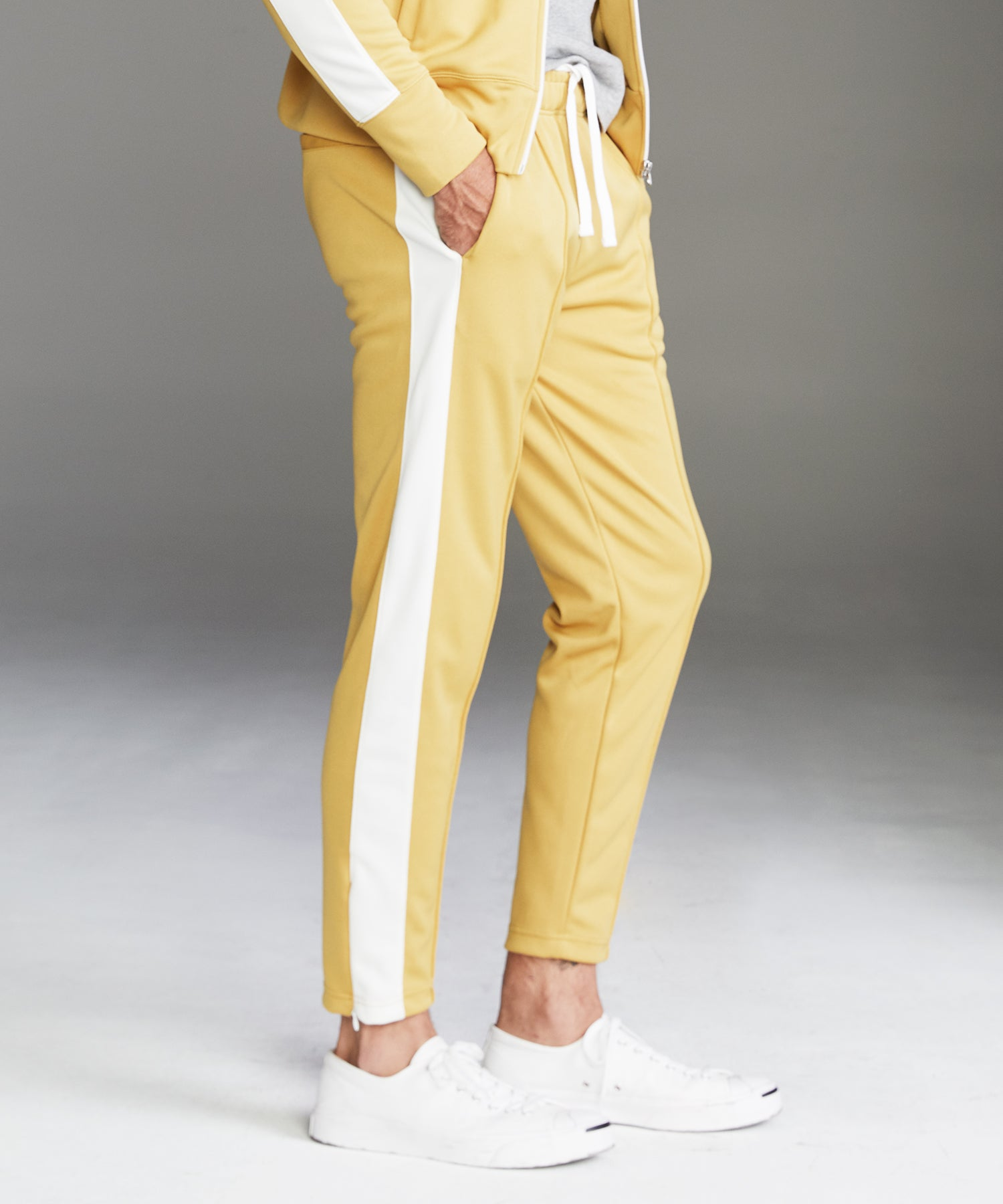 Japanese Side Stripe Trackpants in Goldenrod
