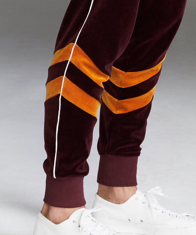 Velour Track Pant in Mustard