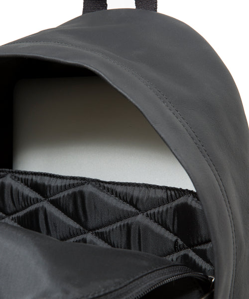 Eastpak Padded Pak'r in Black Ink Leather