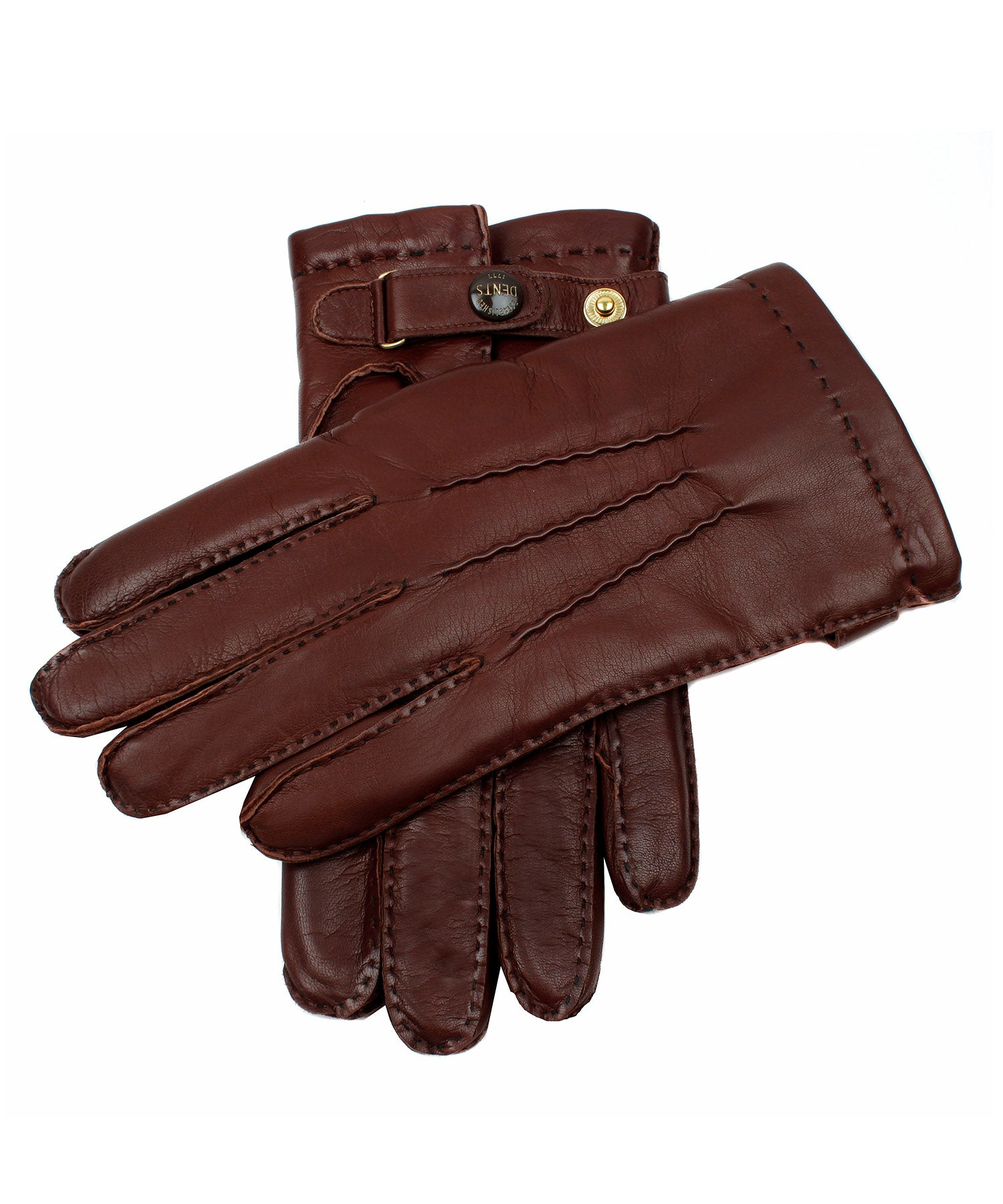 Dents Hatfield Brown Leather Gloves