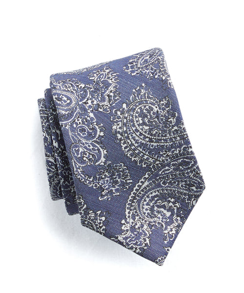 Drake's Paisley Silk and Linen Tie