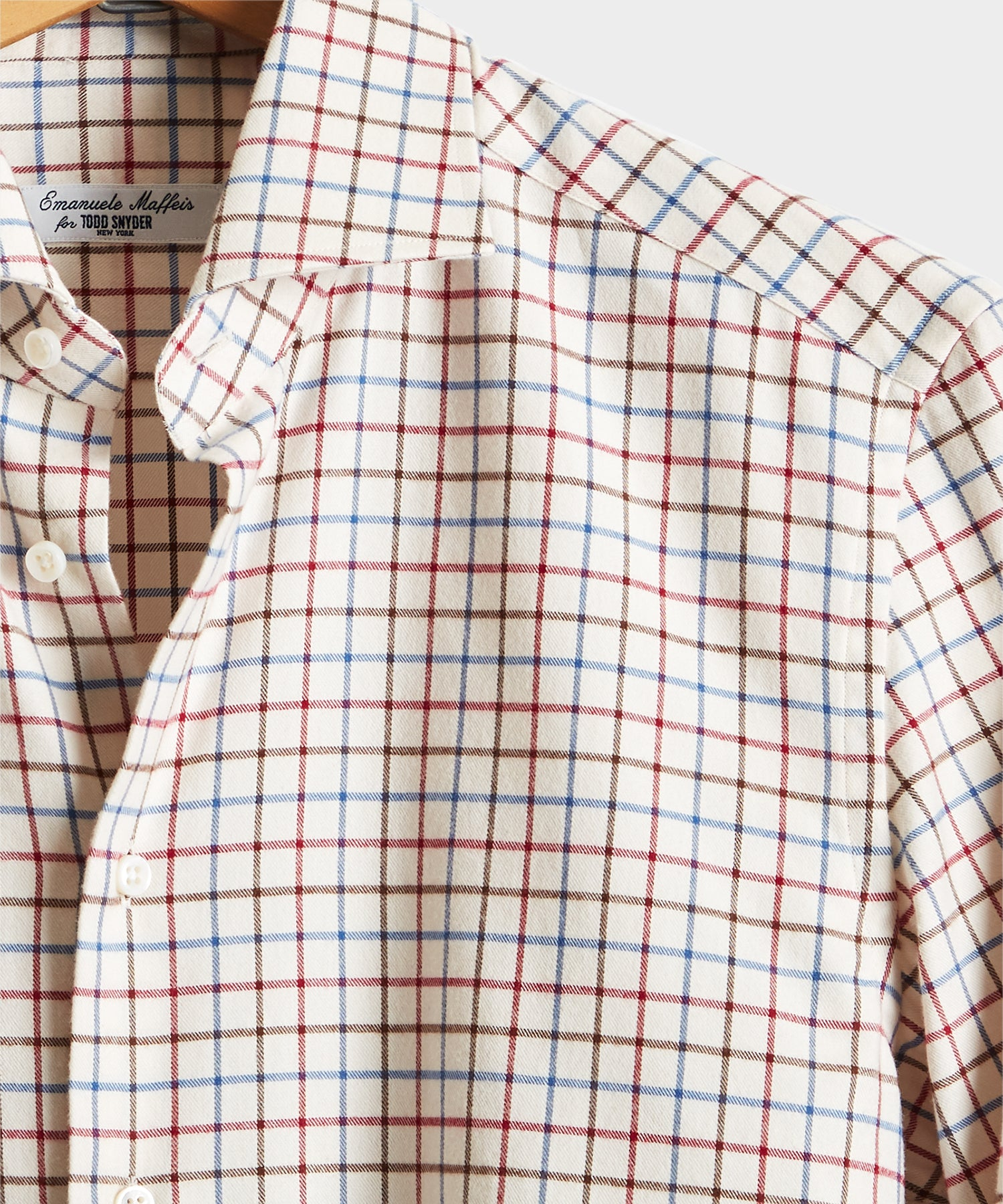 Camiceria E. Maffeis Tattersall Brushed Cotton Shirt