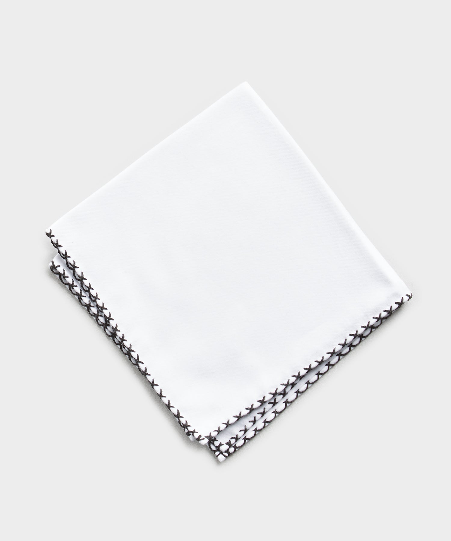 Mungai Cotton Flannel Pocket Square in White