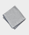 Mungai Cotton Flannel Pocket Square in Light Grey