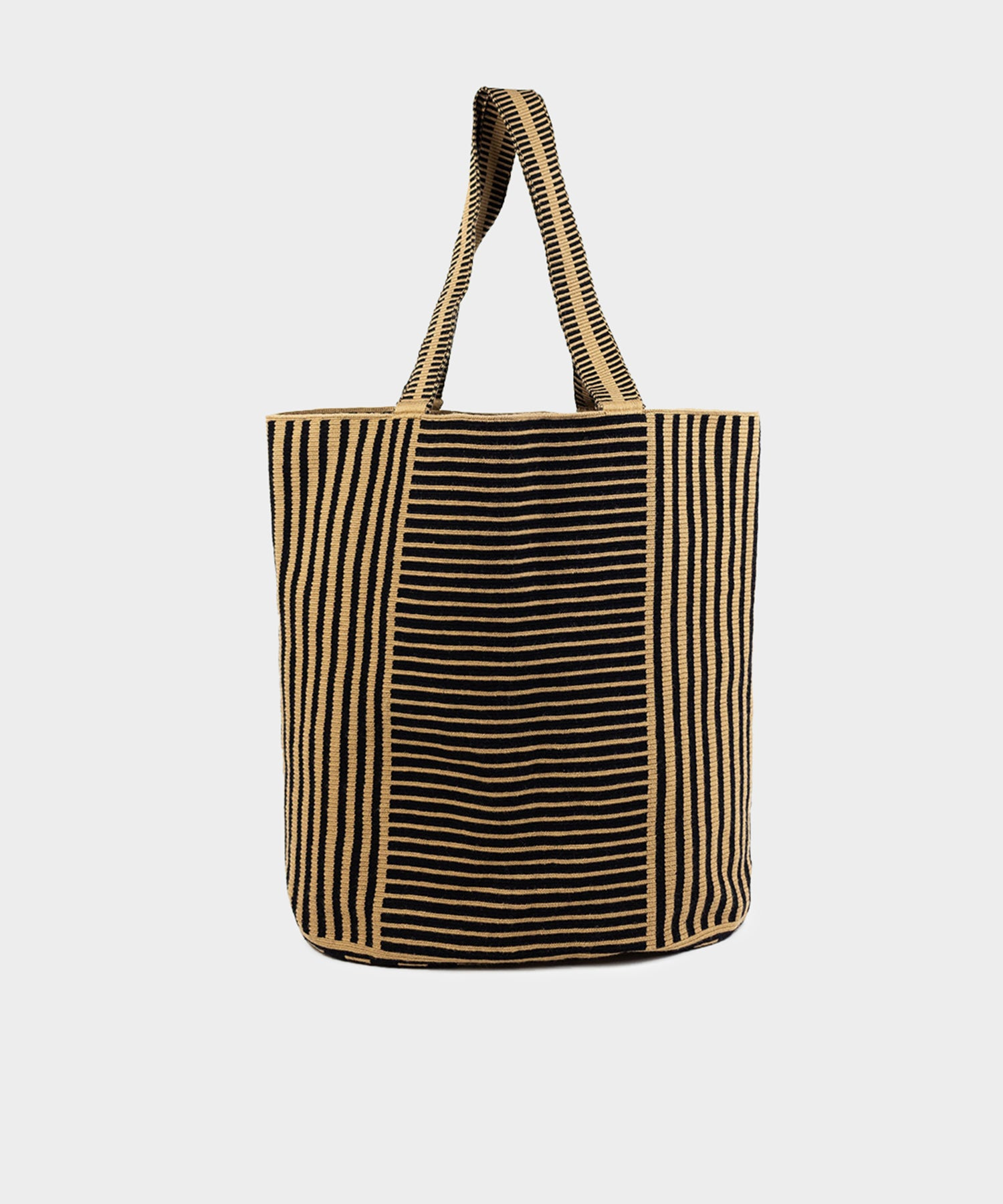 Guanábana Handmade Liam Bag in Black & White Stripe
