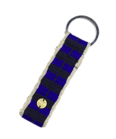 Guanábana Handmade Keyring in Blue And Black