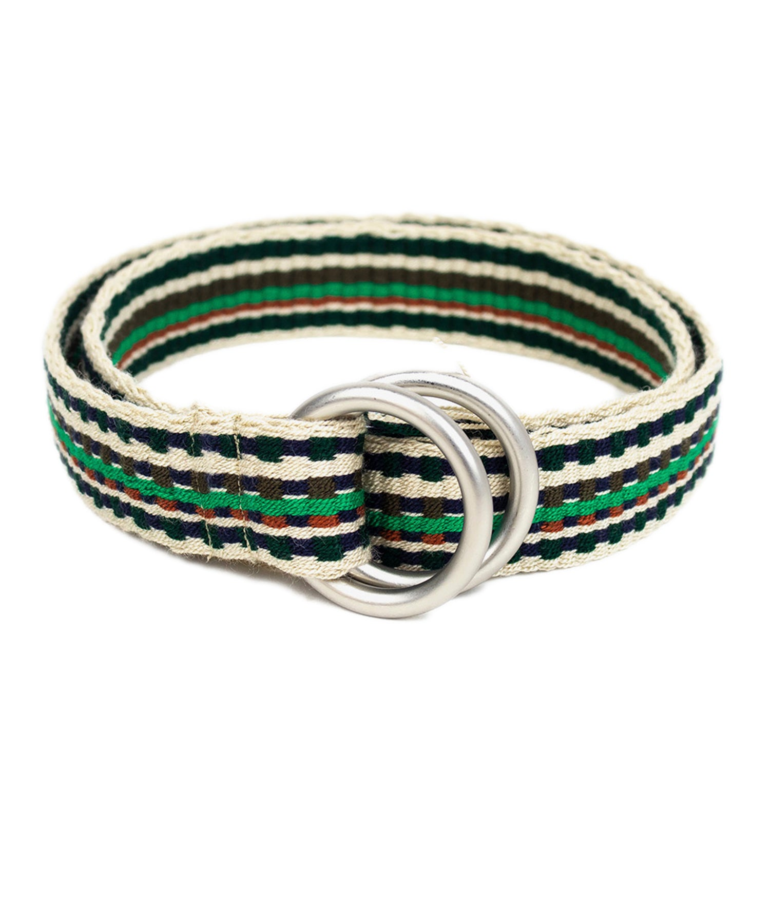 Guanábana Handmade Belt With Fringe + Round Buckle in Green