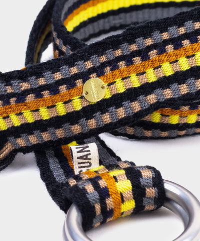 Guanábana Handmade Belt With Fringe + Round Buckle in Yellow