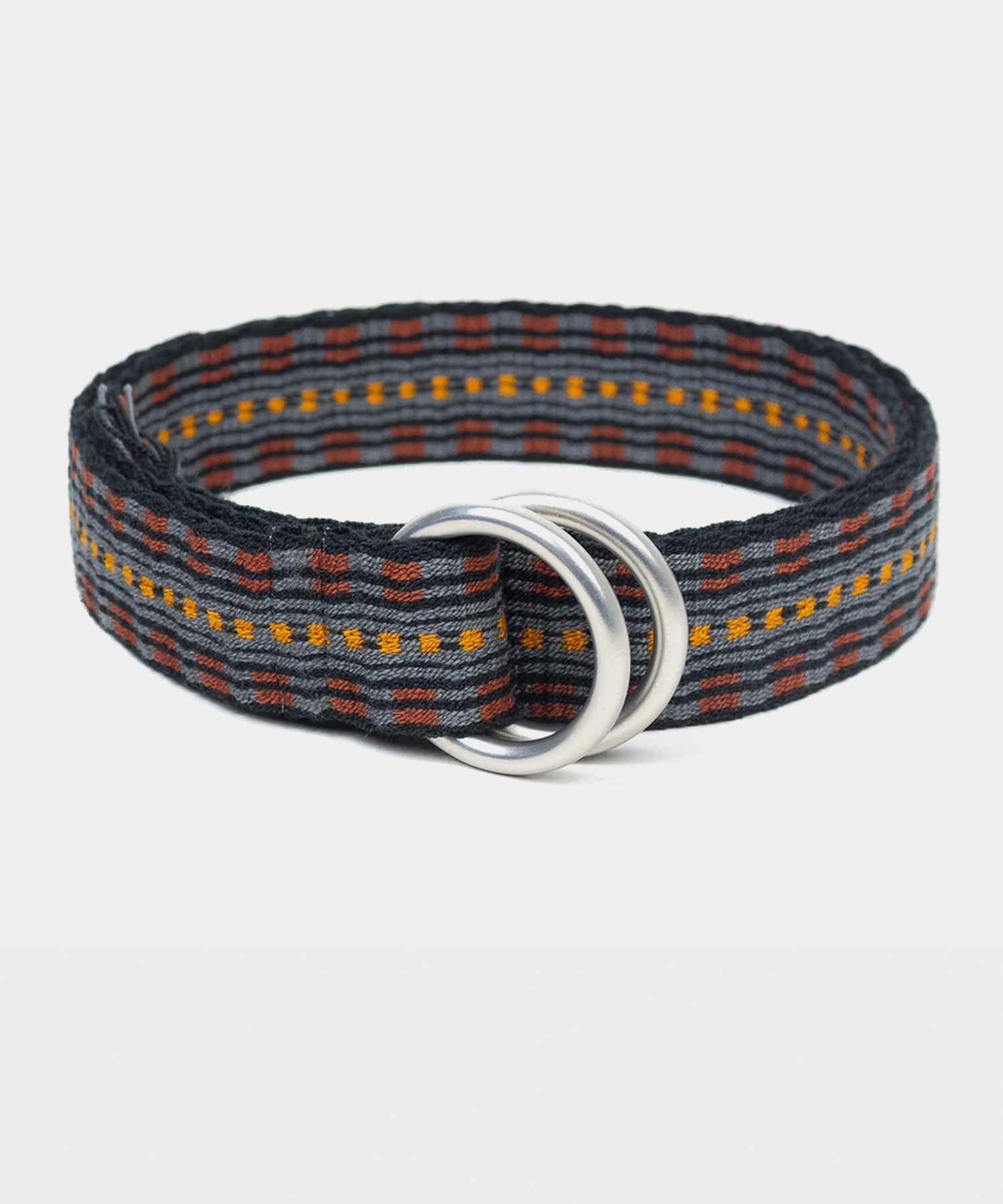 Guanábana Handmade Belt With Fringe + Round Buckle in Grey